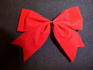 Pack of 8 Red Bows for Garlands, Wreaths, Present Decorations, Table Decorations or Cakes
