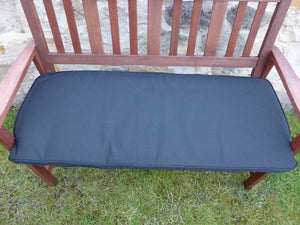 Black 2 Seater Bench Cushion 116x48x6
