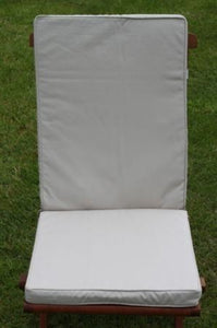 Beige Seat and Back Cushion for Folding Chair 95x42x5