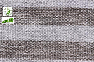 UK Gardens 120cm Stripe Rug Grey Recycled Textiles 12 Lines