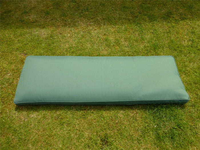 GREEN 3 Seater Bench Cushion 143x48x6