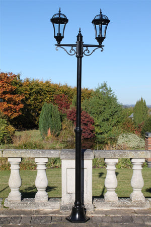 Traditional Garden Lamp Post - Double