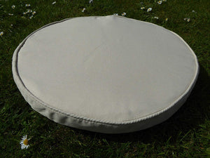 BEIGE Bistro Round Seat Pad Chair Cushion 38x5