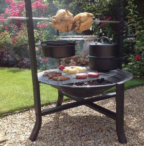 UK-Gardens 75cm Large Black Rotisserie Bundle Outdoor Cooking and Grilling