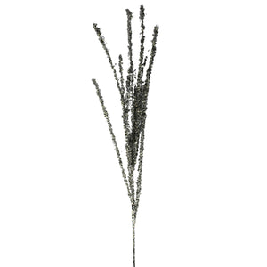 UK-Gardens 87cm Silver Sequin Spray Decoration