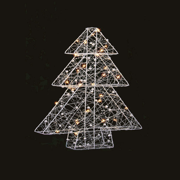 2D 30 LED Wire Xmas Decoration Battery Operated 2 Styles Star Tree