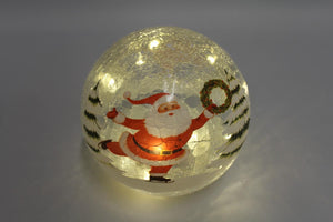 Santa 15cm Crackle Ball