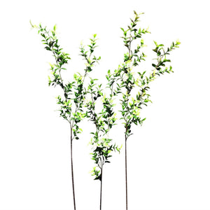 90cm 3ft WHITE SNOW Glitter Artificial Ruscus Stem Christmas Decoration