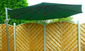 Large 3.5m Crank And Tilt 360 Garden Parasol - Green