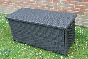 Small Dark Grey Rattan Storage Box