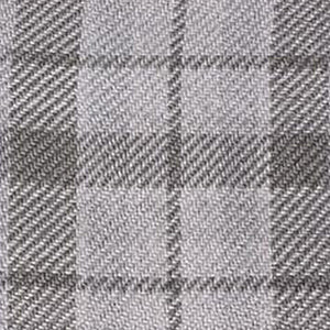 UK Gardens 130m Tartan Throw Grey Tones Recycled Textiles