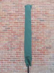 UK-Gardens Green Waterproof Parasol Cover And Rotary Washing Line Cover for 3 meter or 2.7 Meter Parasols - Water Proof Garden Furniture Cover