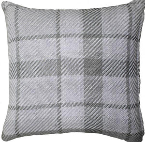UK Gardens 40cm Tartan Grey Recycled Scatter Cushion