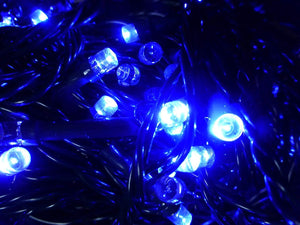 Set of 200 Blue Indoor Outdoor Battery Operated Multi Action Timer LED Christmas Tree Fairy Lights