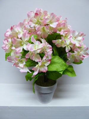 40cm Artificial Pink Hydrangea Plant In A Pot