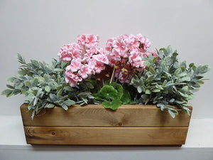 Heavy Duty Small Rectangular Wooden Window Box Garden Planter Trough - 51 x 18 x 15.5cm - UK Handmade Fully Assembled | UK-Gardens.co.uk