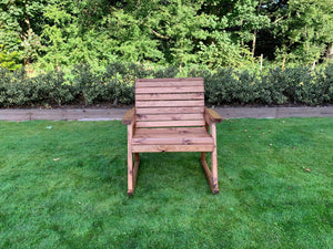 UK-Gardens Outdoor Extra Wide Wood Grand Rocking Bench without Cushions