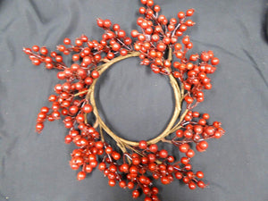 35cm Red Berry Christmas Artificial Wreath