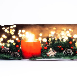UK Gardens 20cm Draught Excluder Door Strip Lit Red Candle