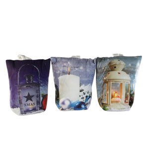 UK Gardens 18cm LED White Door Stop Christmas Lantern Decoration