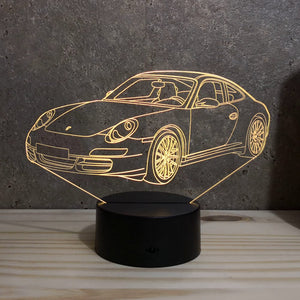 Lampe Porsche 997 Carrera S Illusion Led RGB 7 ou 16 couleurs