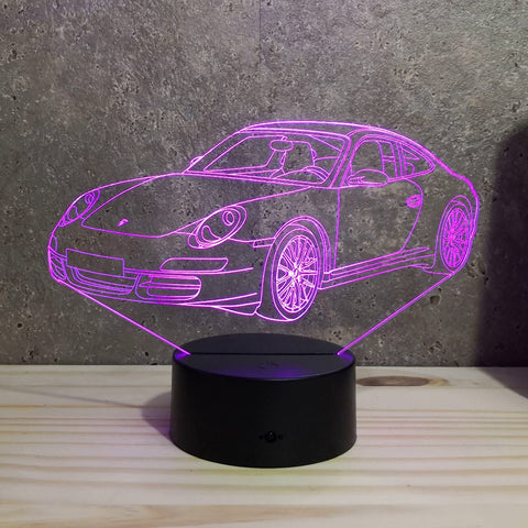 Image of Lampe Porsche 997 Carrera S Illusion Led RGB 7 ou 16 couleurs