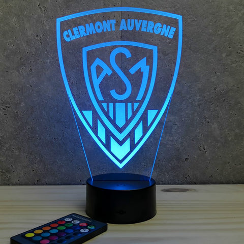 Image of Lampe ASM Clermont Auvergne 7 ou 16 couleurs RGB illusion 3D