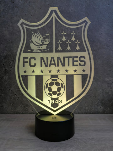 Image of Lampe Illusion Led Club de Foot, en verre acrylique gravée au laser