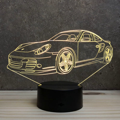 Image of Lampe Porsche 997 Turbo Illusion Led RGB 7 ou 16 couleurs