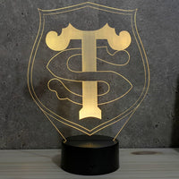 Lampe Stade Toulousain illusion 3D led 7 couleurs RGB
