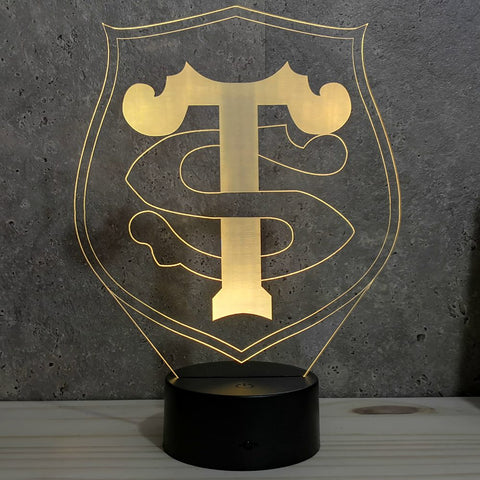 Image of Lampe Rugby Toulouse illusion 3D led 7 couleurs RGB
