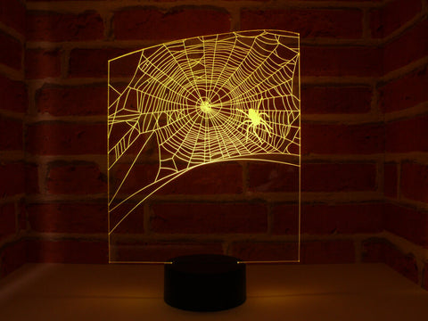 Image of Lampe Illusion Led Toile Halloween, en verre acrylique gravée au laser