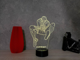 Lampe Spiderman Illusion Led , en verre acrylique gravée au laser