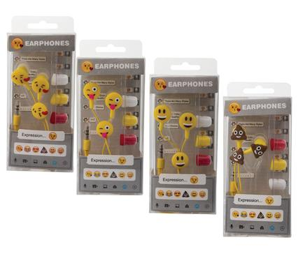 avenusa - Mini Emoji Earphones Pair Of Smiley Faces 3.5mm Jack - avenu.co.za - Electronics