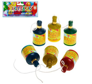 avenusa - Party Poppers, Loud Pop with Streamers - 6 Pack - avenu.co.za - Party & Decorations