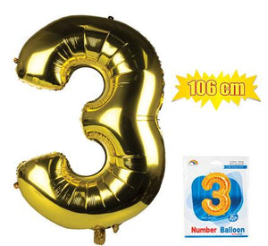 avenusa - Gold Foil Balloon Helium - Birthday Party Decoration, Anniversary Numbers 0 to 9 - 106 cm - avenu.co.za - Home & Decor