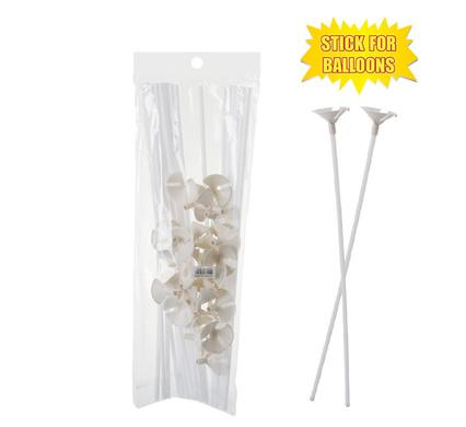 avenusa - Plastic White Balloon Stick & Cup Holders for Parties, 24pc Pack - avenu.co.za - Party & Decorations