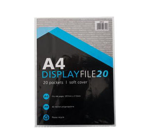 avenusa - A4 Display File - 20pc Plastic Pockets - avenu.co.za - Office & School Supplies