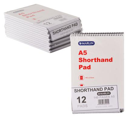 avenusa - A5 Shorthand Pad 140 Pages, 12 Pads - avenu.co.za - Office & School Supplies