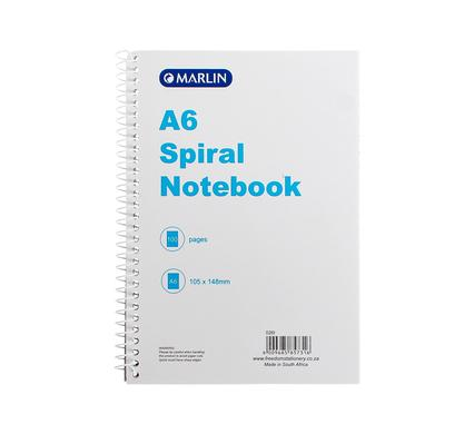 avenusa - Marlin A6 Spiral Notepad 100 Page - avenu.co.za - Office & School Supplies