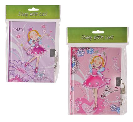 avenusa - NOVELTY GIRL DIARY W/LOCK 50PG - avenu.co.za - Office & School Supplies