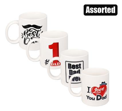 Dad 320ml White Coffee Mug Printed Graphics, Father's Day