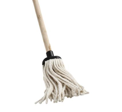 avenusa - All Purpose Cotton Floor Mop - Wooden 1.2 Metre Long Handle - avenu.co.za - Home & Decor