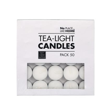 avenusa - 50 White Tea Light Candles 3.5cm - avenu.co.za - Home & Decor