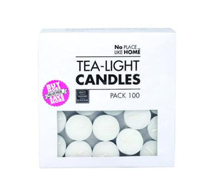 avenusa - 100 White Tea Light Candles 3.5cm - avenu.co.za - Home & Decor