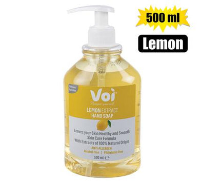 Voi 100% Natural Lemon Extract Hand Soap 500ml Hand Pump Bottle