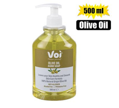 Voi 100% Natural Olive Oil Extract Hand Soap 500ml Hand Pump Bottle