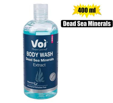 Voi 100% Natural Dead Sea Minerals Extract Body Wash 400ml Easy Seal Bottle. Great for the whole family
