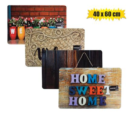 Non-Slip Outdoor/Indoor Rubber Printed Doormat 40x60cm