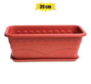 Planter with Tray 39x19x14cm Plastic Rectangle